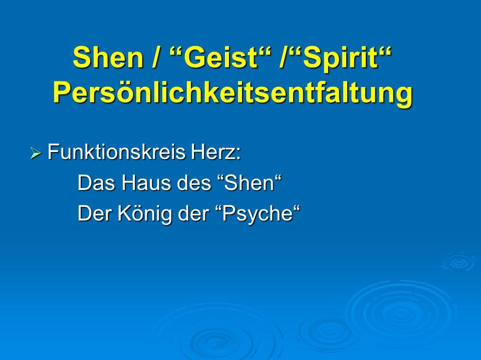 Shen / Geist / Spirit Persönlichkeitsentfaltung