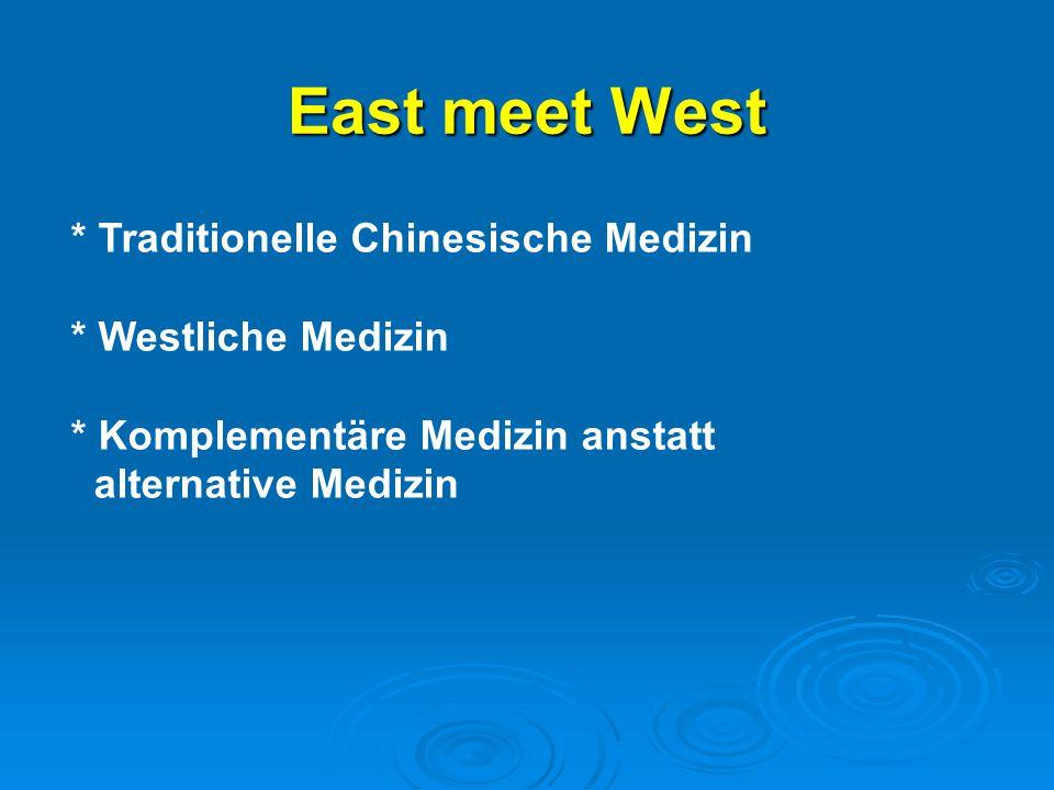 East meet West * Traditionelle Chinesische Medizin * Westliche Medizin