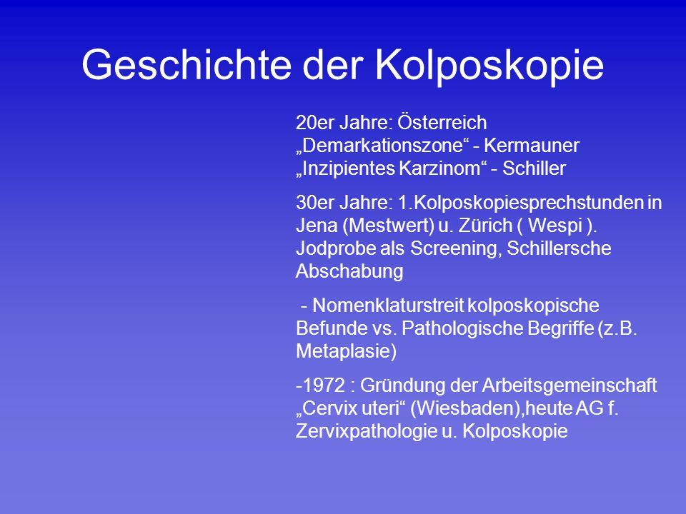 Geschichte der Kolposkopie