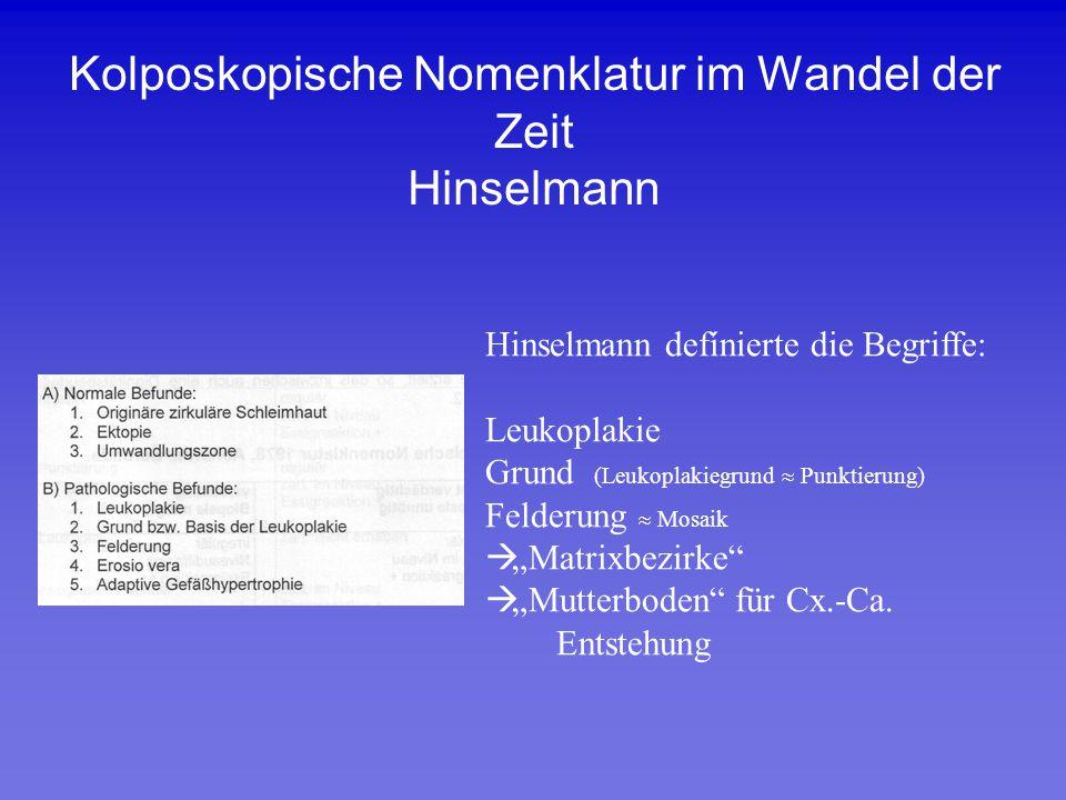 Kolposkopische Nomenklatur im Wandel der Zeit Hinselmann