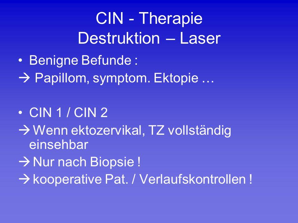 CIN - Therapie Destruktion – Laser