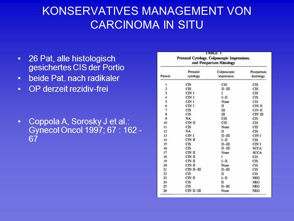 KONSERVATIVES MANAGEMENT VON CARCINOMA IN SITU