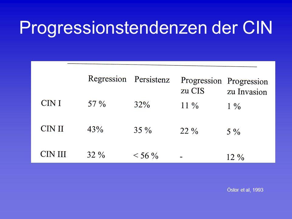 Progressionstendenzen der CIN