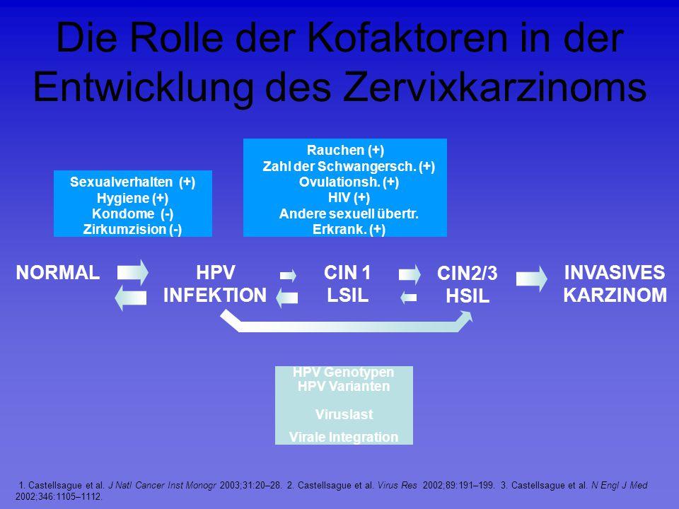 Die Rolle der Kofaktoren in der Entwicklung des Zervixkarzinoms