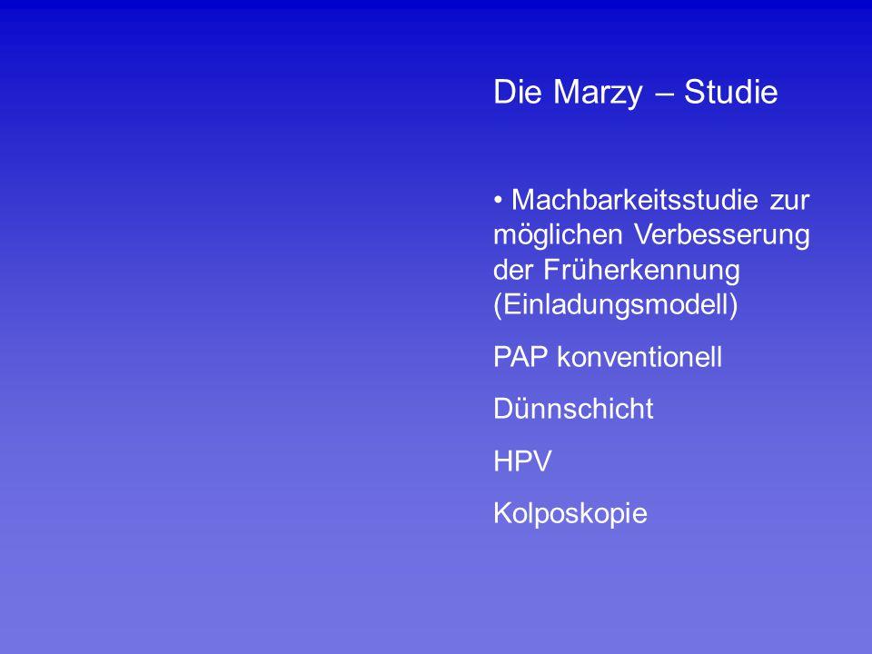 Die Marzy – Studie Machbarkeitsstudie zur möglichen Verbesserung der Früherkennung (Einladungsmodell)