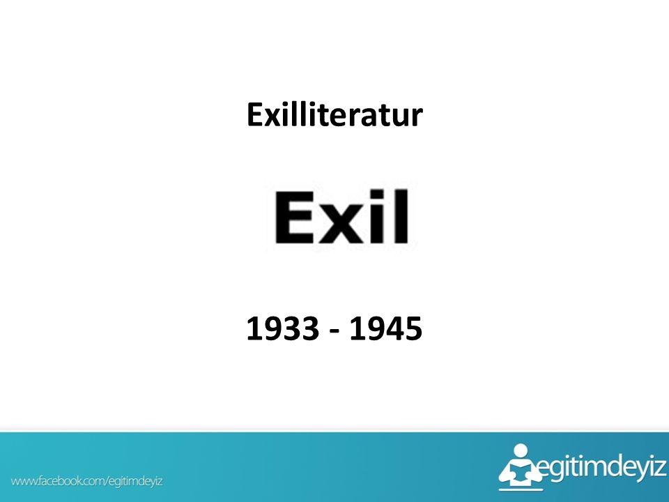 Exilliteratur 1933 - 1945