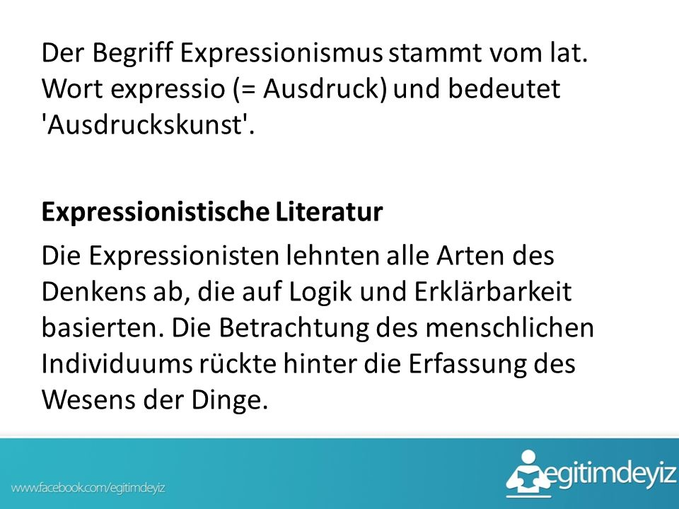 Der Begriff Expressionismus stammt vom lat