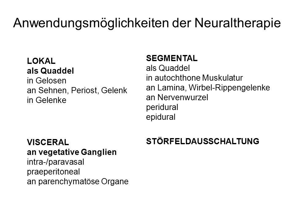 Anwendungsmöglichkeiten der Neuraltherapie