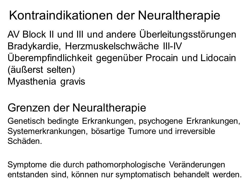 Kontraindikationen der Neuraltherapie