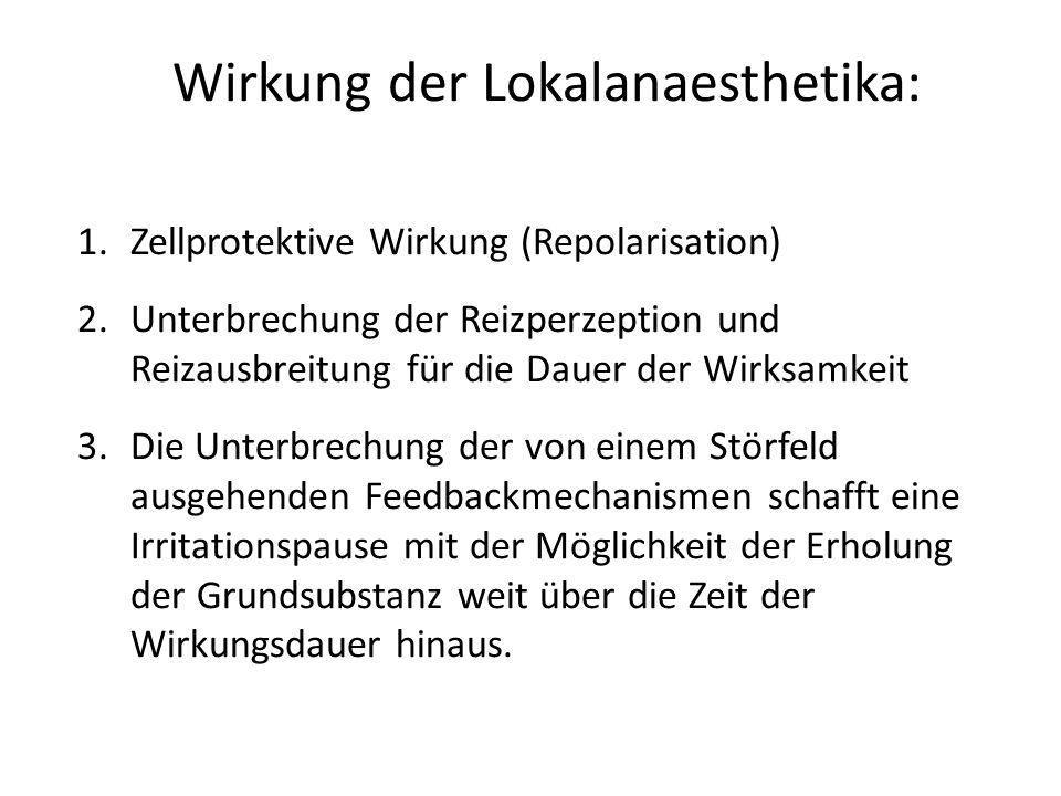 Wirkung der Lokalanaesthetika: