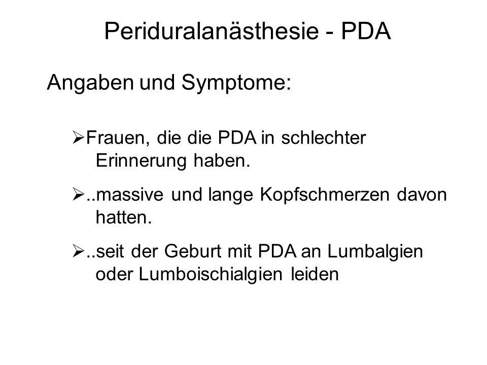 Periduralanästhesie - PDA