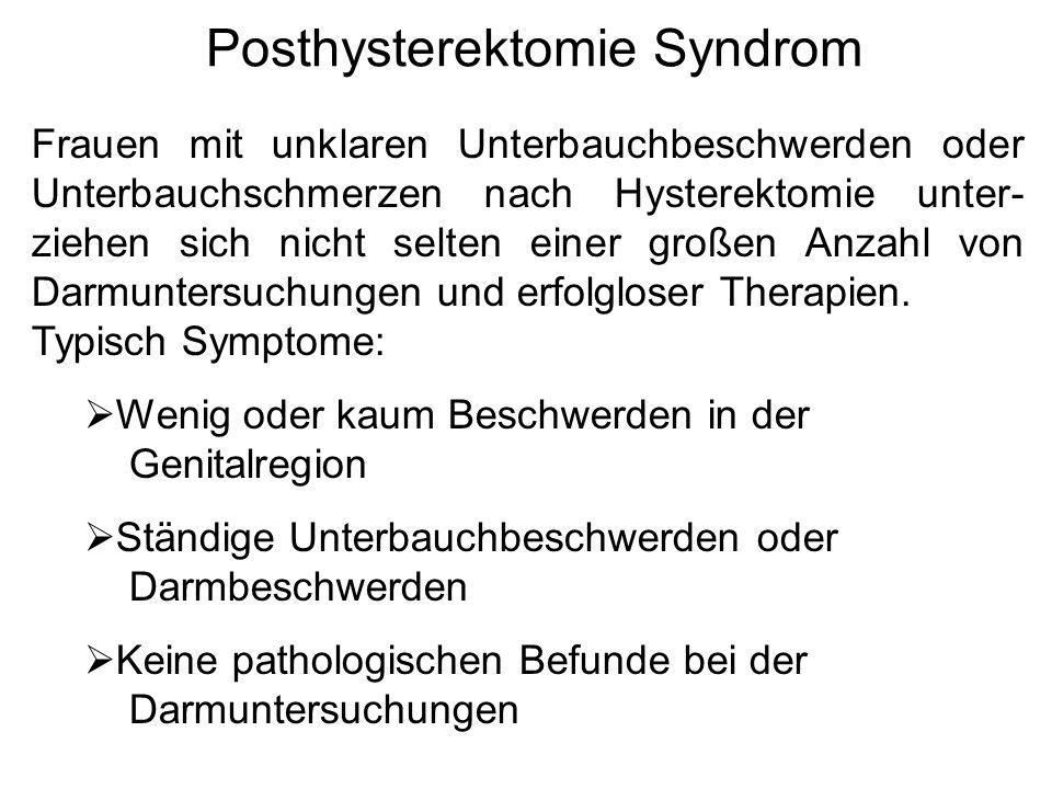 Posthysterektomie Syndrom
