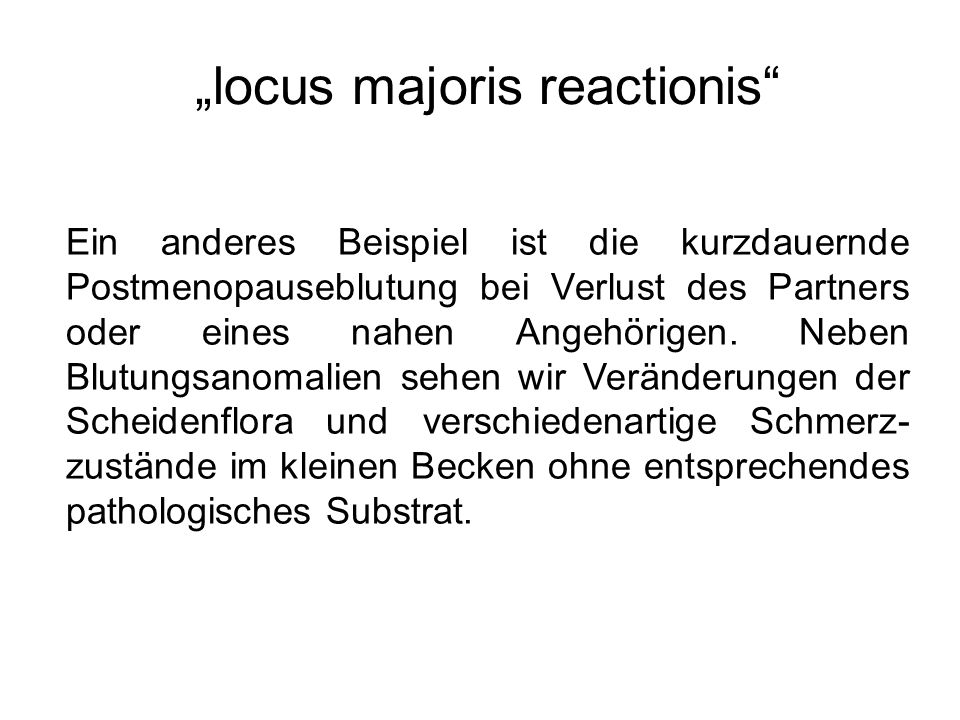 """""""locus majoris reactionis"""