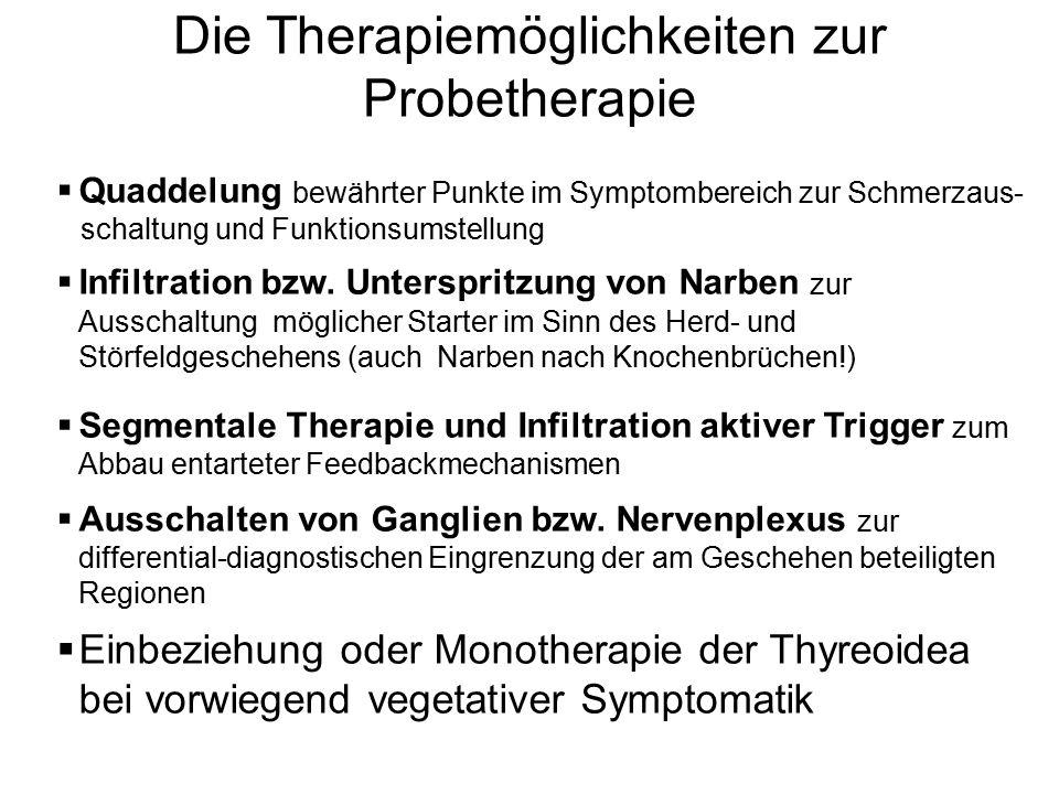 Die Therapiemöglichkeiten zur Probetherapie