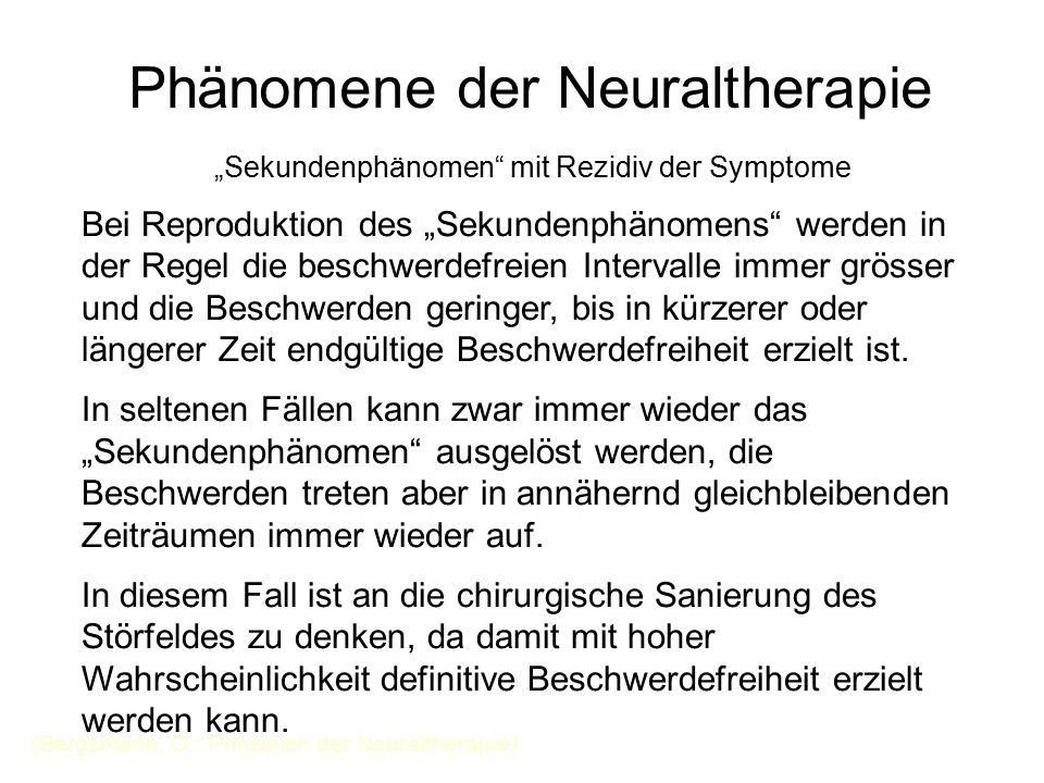 Phänomene der Neuraltherapie