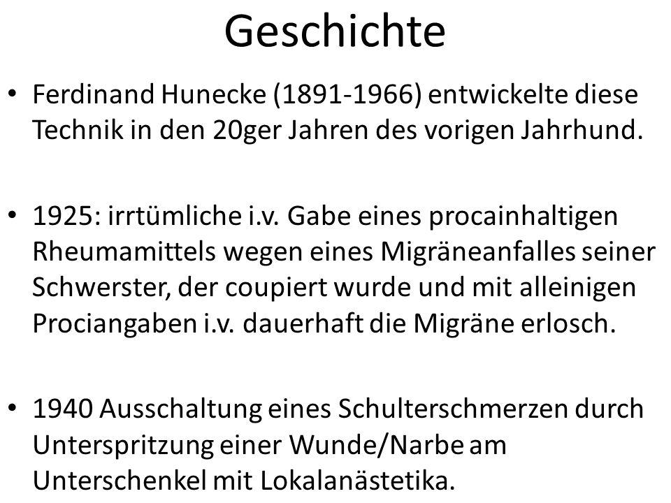 Geschichte Ferdinand Hunecke (1891-1966) entwickelte diese Technik in den 20ger Jahren des vorigen Jahrhund.