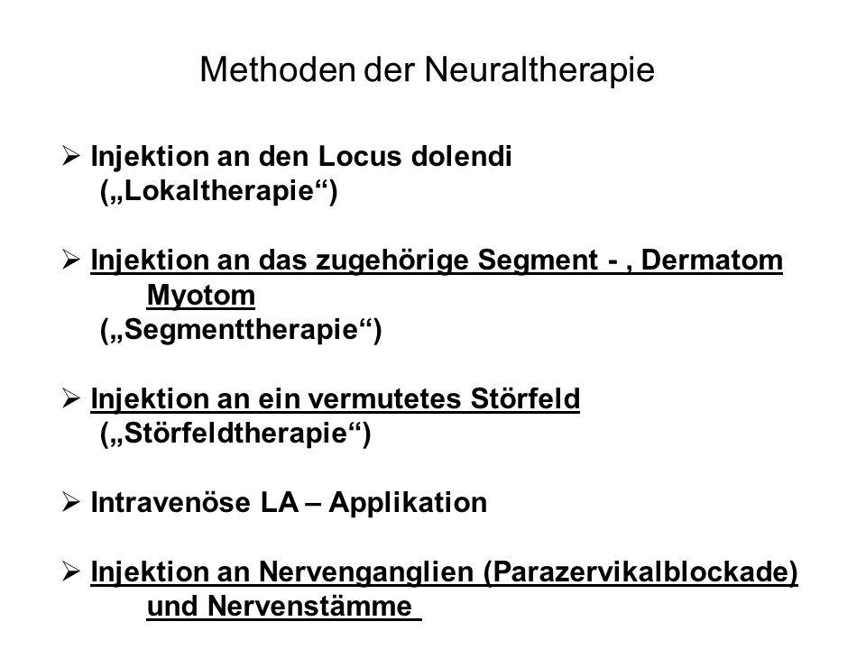 Methoden der Neuraltherapie
