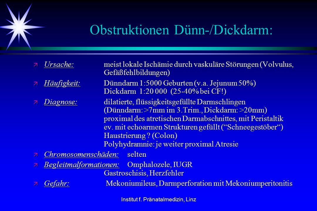 Obstruktionen Dünn-/Dickdarm:
