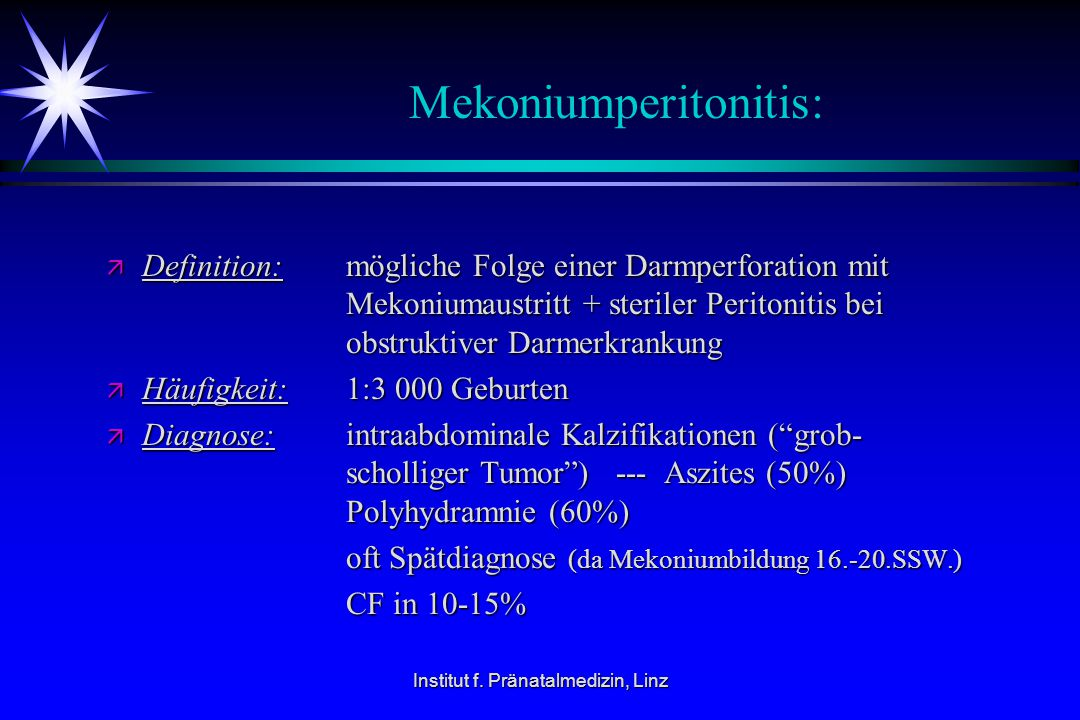 Mekoniumperitonitis: