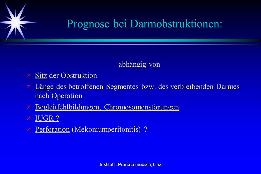 Prognose bei Darmobstruktionen: