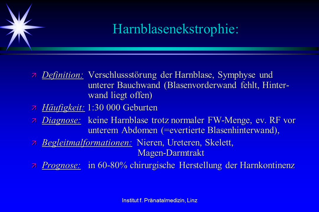 Harnblasenekstrophie: