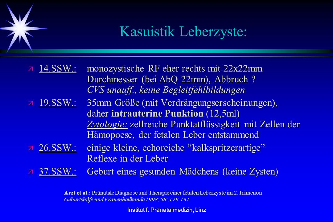 Kasuistik Leberzyste: