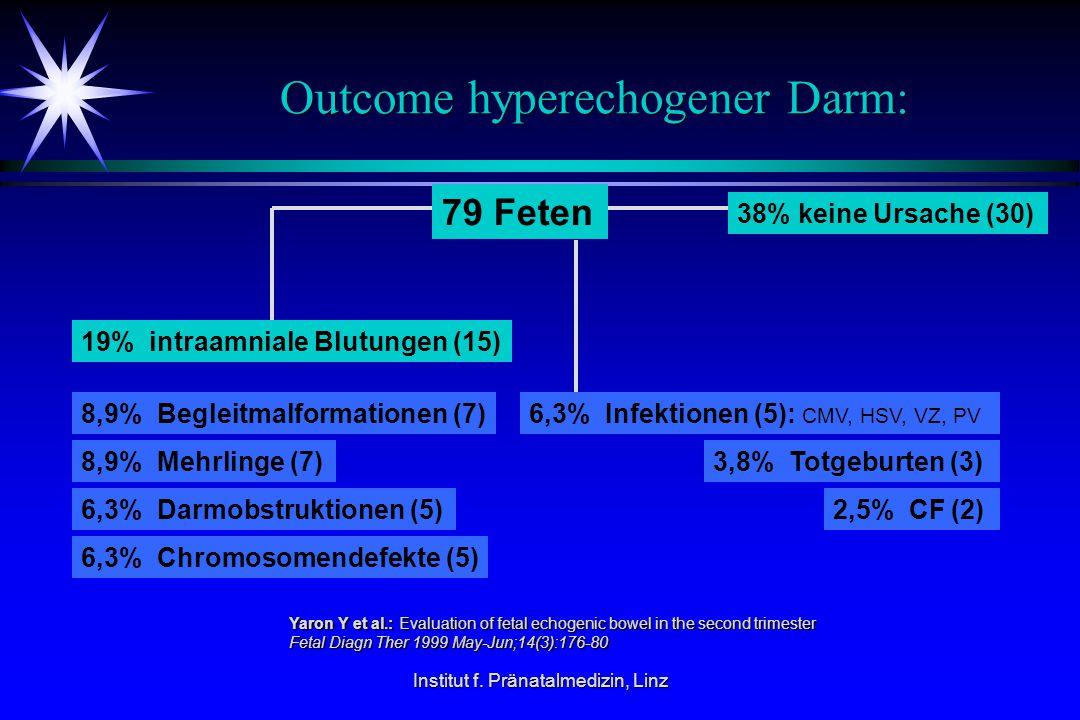 Outcome hyperechogener Darm: