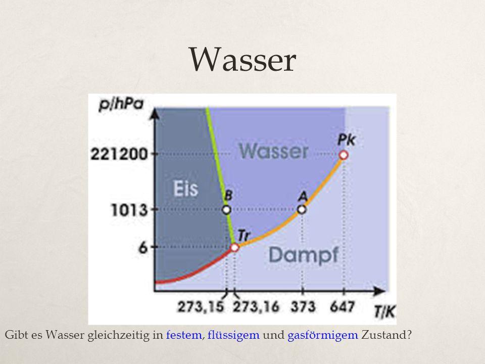 Wasser Gibt es Wasser gleichzeitig in festem, flüssigem und gasförmigem Zustand