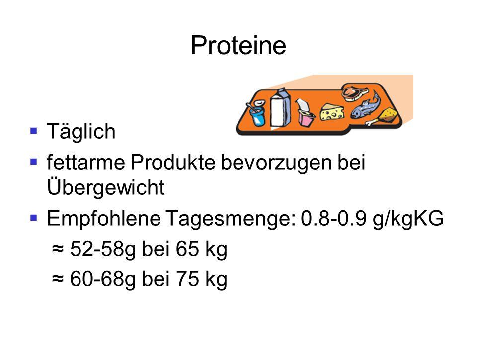 Proteine Täglich fettarme Produkte bevorzugen bei Übergewicht