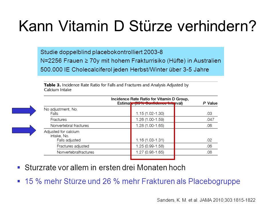 Kann Vitamin D Stürze verhindern