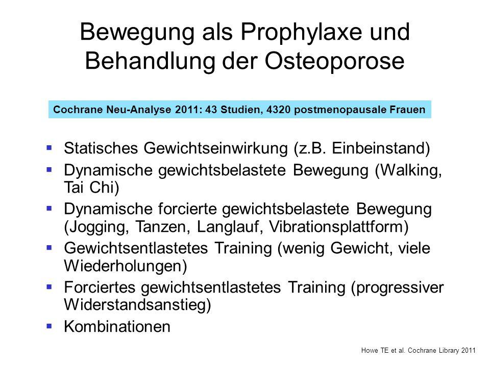 Bewegung als Prophylaxe und Behandlung der Osteoporose