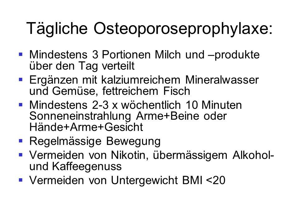 Tägliche Osteoporoseprophylaxe: