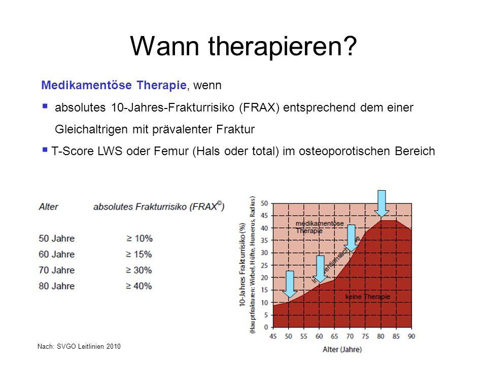 Wann therapieren Medikamentöse Therapie, wenn
