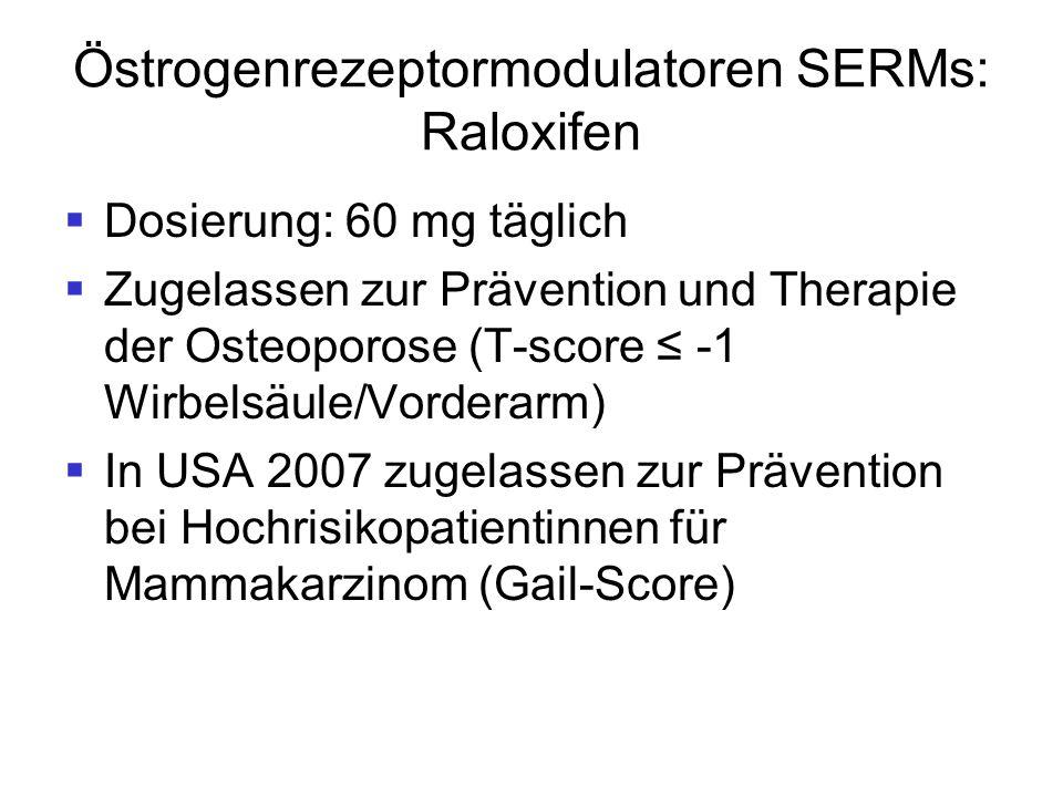 Östrogenrezeptormodulatoren SERMs: Raloxifen