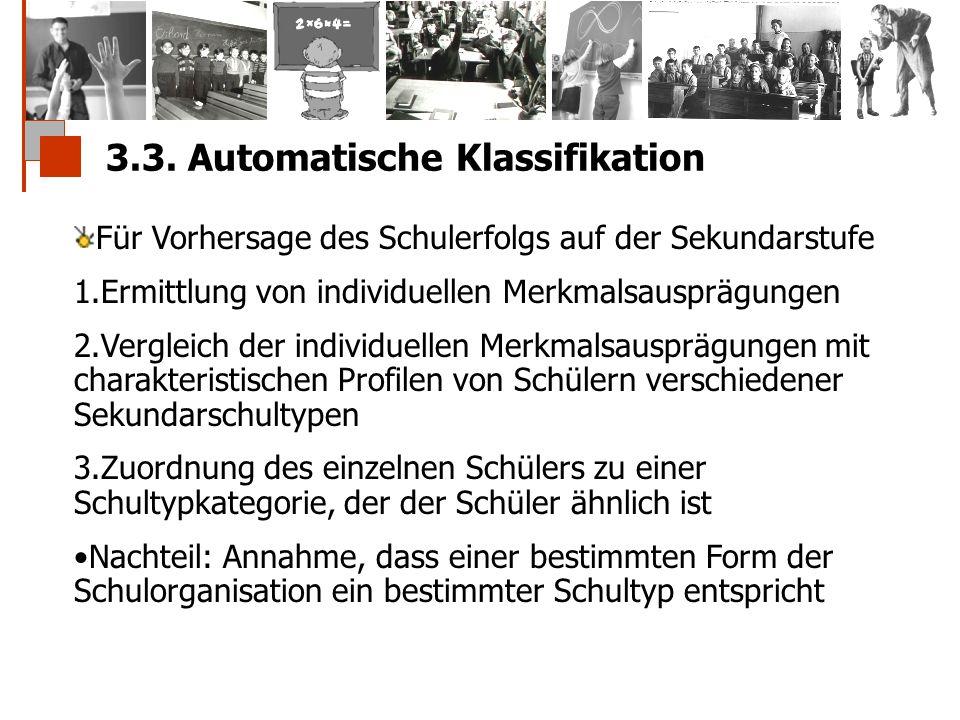 3.3. Automatische Klassifikation