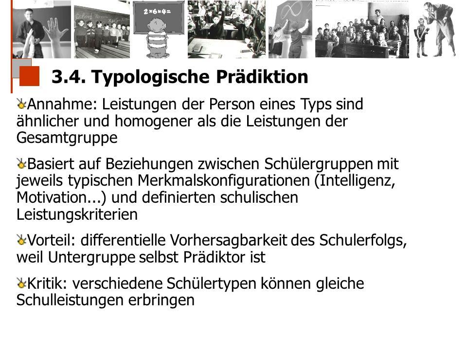 3.4. Typologische Prädiktion