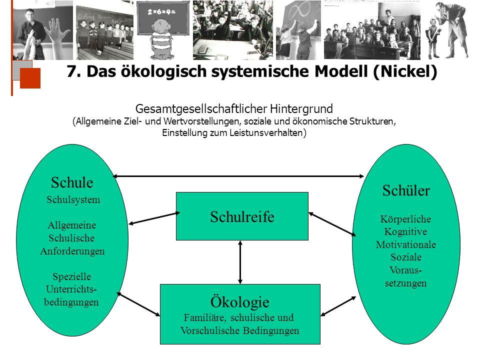 7. Das ökologisch systemische Modell (Nickel)