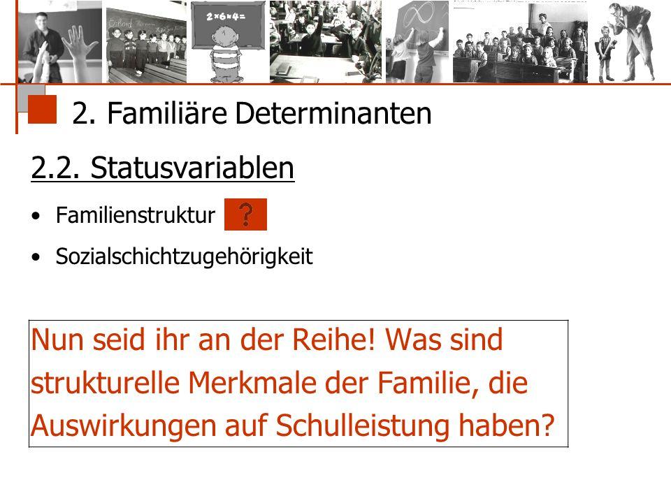 2. Familiäre Determinanten