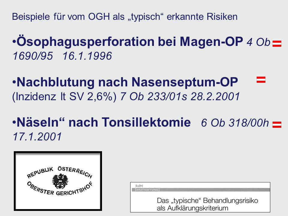 Ösophagusperforation bei Magen-OP 4 Ob 1690/