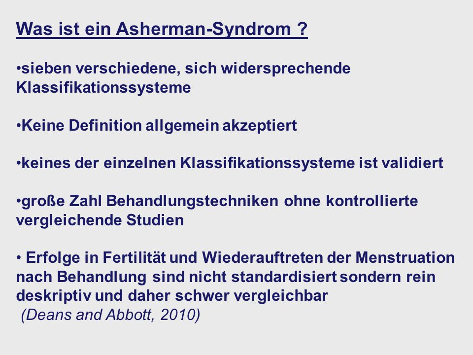 Was ist ein Asherman-Syndrom