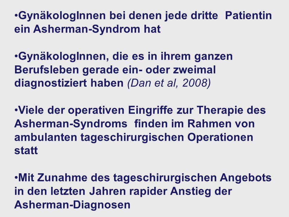 GynäkologInnen bei denen jede dritte Patientin ein Asherman-Syndrom hat