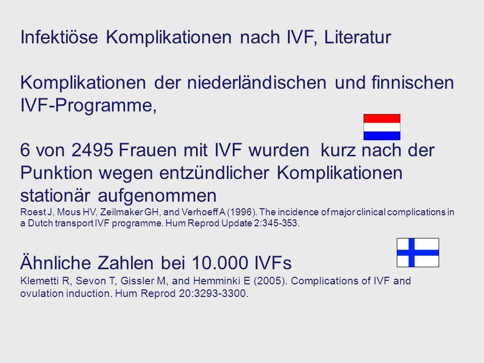 Infektiöse Komplikationen nach IVF, Literatur