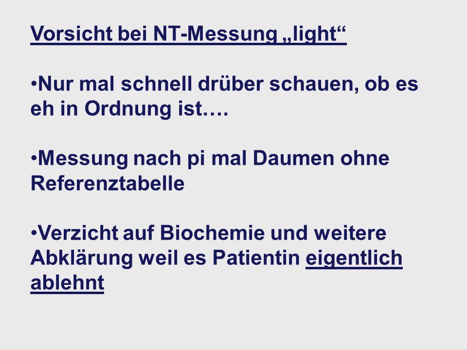 """Vorsicht bei NT-Messung """"light"""