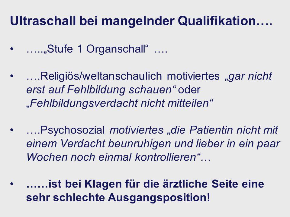 Ultraschall bei mangelnder Qualifikation….