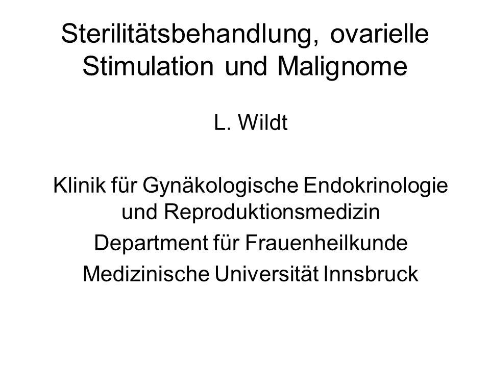 Sterilitätsbehandlung, ovarielle Stimulation und Malignome