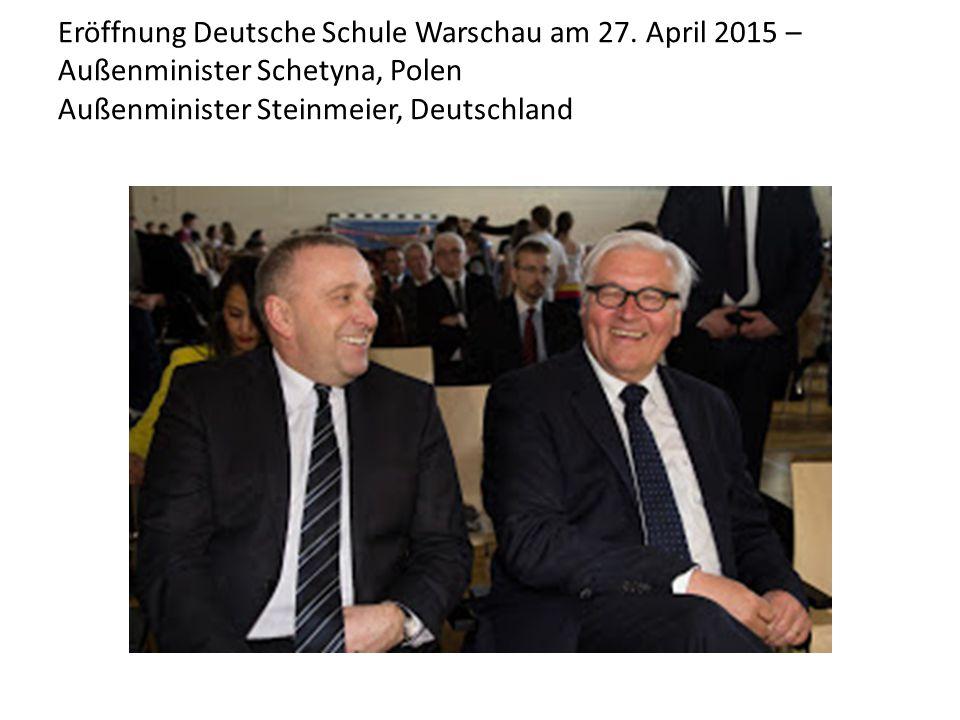 Eröffnung Deutsche Schule Warschau am 27