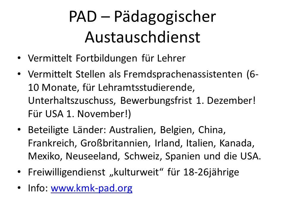 PAD – Pädagogischer Austauschdienst