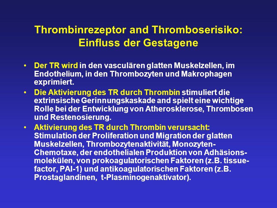 Thrombinrezeptor and Thromboserisiko: Einfluss der Gestagene