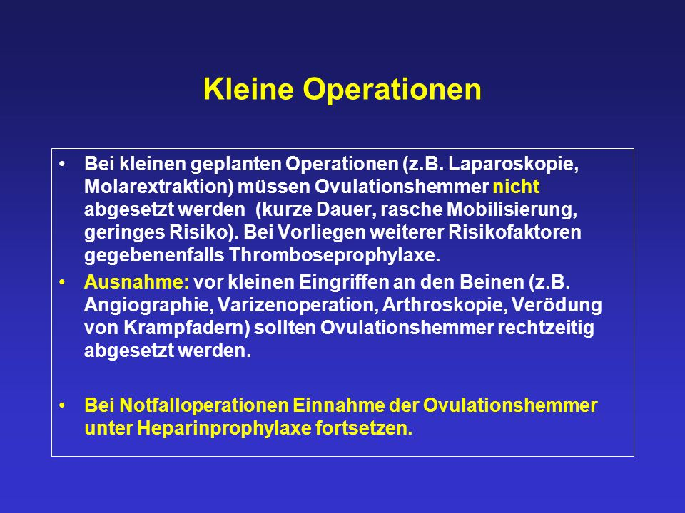 Kleine Operationen