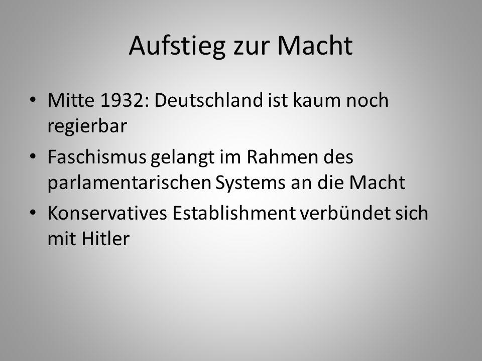 Aufstieg zur Macht Mitte 1932: Deutschland ist kaum noch regierbar